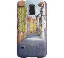 Narrow alley in Regensburg, Germany Samsung Galaxy Case/Skin