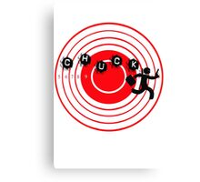 Chuck Ninja man target board 2 Canvas Print