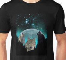 Wolves Twilight Harvest Moon Unisex T-Shirt