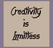 Homage/Creativity is Limitless  Kids Tee