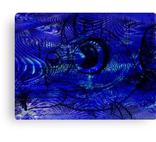 Blunt Fish Blue Canvas Print