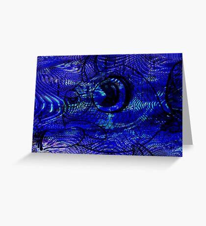 Blunt Fish Blue Greeting Card