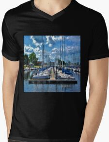 Sailboats Painted 2 Mens V-Neck T-Shirt