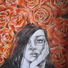 AMONG RED ROSES by GittiArt
