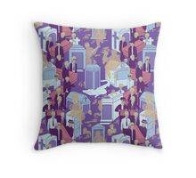New Orleans Jazz Funeral  Throw Pillow