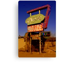 Lasso Motel -- Route 66 Canvas Print