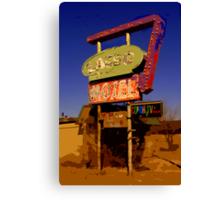 Lasso Motel -- Route 66 Canvas Print