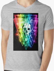 Retro Skull Mens V-Neck T-Shirt