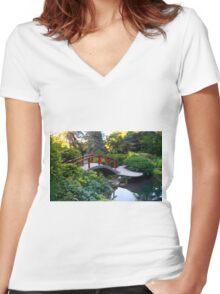 Kubota Garden Women's Fitted V-Neck T-Shirt