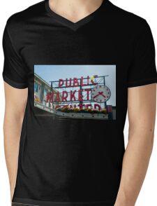 Pike Place Market Mens V-Neck T-Shirt