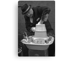 The Suited Potter Canvas Print