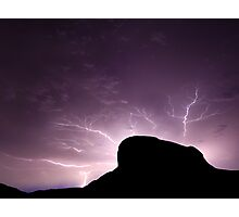 Lightning Rock Photographic Print