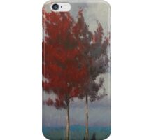 Red Maple Trees Landscape iPhone Case/Skin