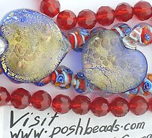 blue hearts by poshbeads