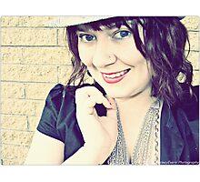 retro smile Photographic Print