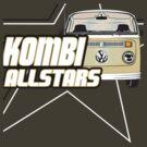 Volkswagen Kombi Tee Shirt - Kombi Allstars Brown by KombiNation