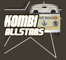 Volkswagen Kombi Tee Shirt - Kombi Allstars Brown by KombiNation