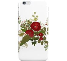 Seamless floral pattern with red poppies on white iPhone Case/Skin