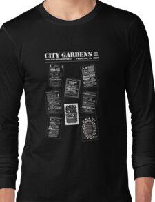 City Gardens - Punk Card Tee Shirt (v. 3.1) Long Sleeve T-Shirt