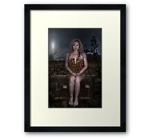 Bare Feet and a Suitcase... Framed Print