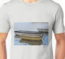Small boats at Lyme harbour, Dorset UK Unisex T-Shirt