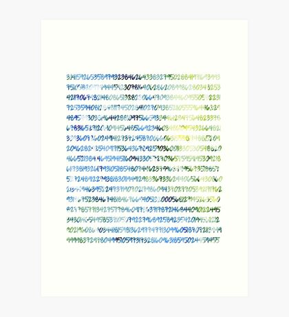 Digits of Pi (Green & Blue) Art Print