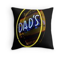 Dad's Old Fashioned Root Beer Throw Pillow