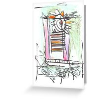 trapped within ones own obessesions Greeting Card