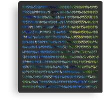 Digits of Pi (Green & Blue on Grey Background) Canvas Print