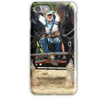Two Clydesdales at Churchill Island - 2015 iPhone Case/Skin