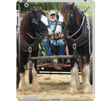 Two Clydesdales at Churchill Island - 2015 iPad Case/Skin