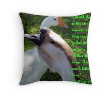 Matthew 6:26 Throw Pillow