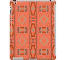 rectangles and diamonds on orange iPad Case/Skin