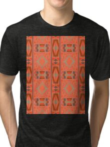 rectangles and diamonds on orange Tri-blend T-Shirt