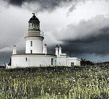 Lighthouse at Chanonry Point - Moray Firth Scotland by Michael Brewis
