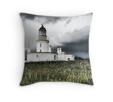 Lighthouse at Chanonry Point - Moray Firth Scotland Throw Pillow