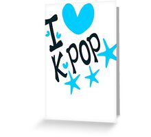 I loveKPOP txt hearts stars vector graphic art  Greeting Card