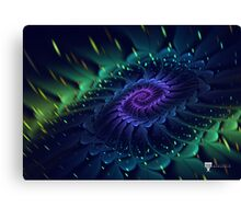 Raw Fractal Bloom Canvas Print