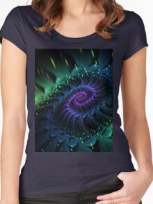 Raw Fractal Bloom Women's Fitted Scoop T-Shirt
