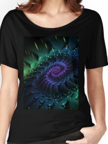 Raw Fractal Bloom Women's Relaxed Fit T-Shirt