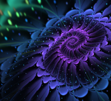 Raw Fractal Bloom Sticker