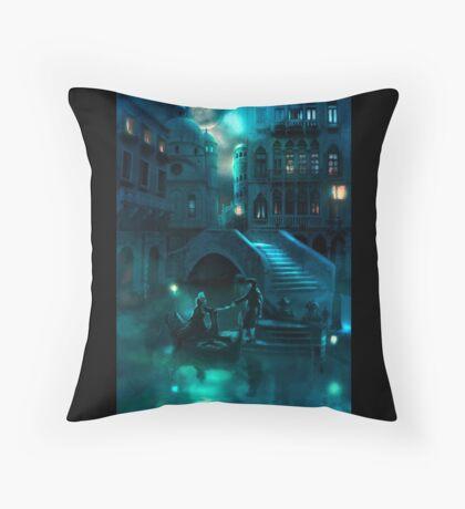 Venice Moon Throw Pillow