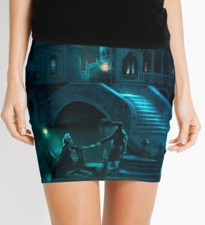 Venice Moon Mini Skirt