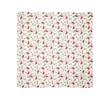 Delicate Red Flower Pattern Scarf