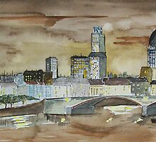 London skyline by Alan Harris