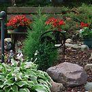 Bench in The Yard by Linda Miller Gesualdo