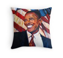 Yes We Can,Barak Obama  Throw Pillow