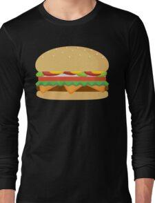 Fast Food Cheese Burger Long Sleeve T-Shirt