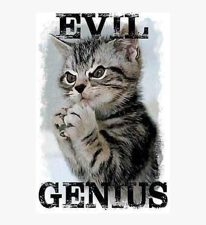 Evil Genius - The Cat Photographic Print