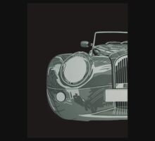 MORGAN AERO 8, FRONT, BLACK AND WHITE by mphcarpaintings